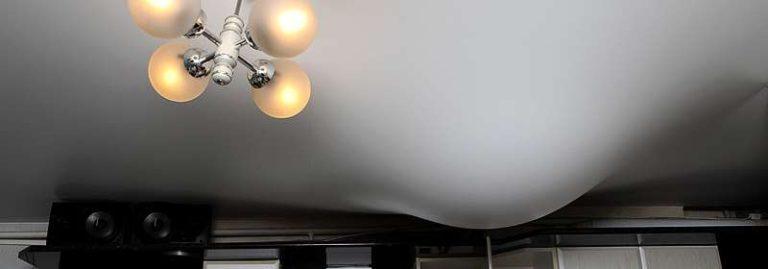 Ремонт натяжных потолков после протечки