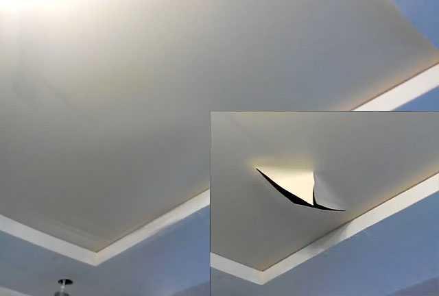Перетяжка натяжного потолка