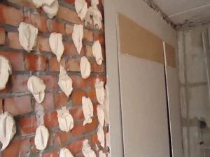 гипсокартон на стену без профиля