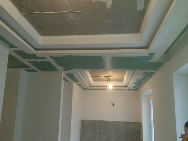 монтаж гипрока на потолок под ключ