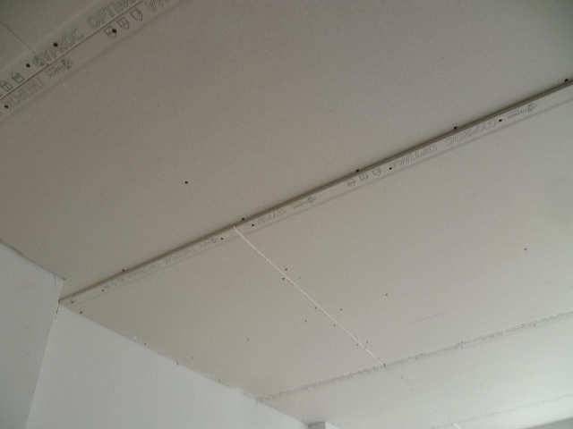 облицовка потолка гкл в два слоя