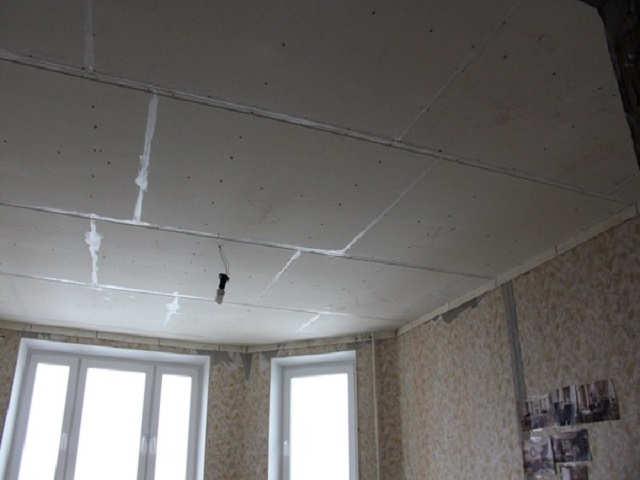 обшивка потолка гкл и гвл