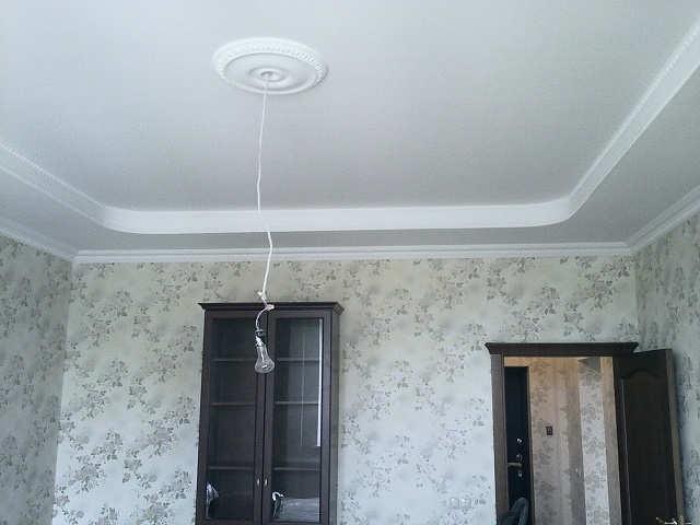 потолок из гипсокартона под покраску