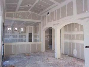 отделка стен гипсокартоном с арками
