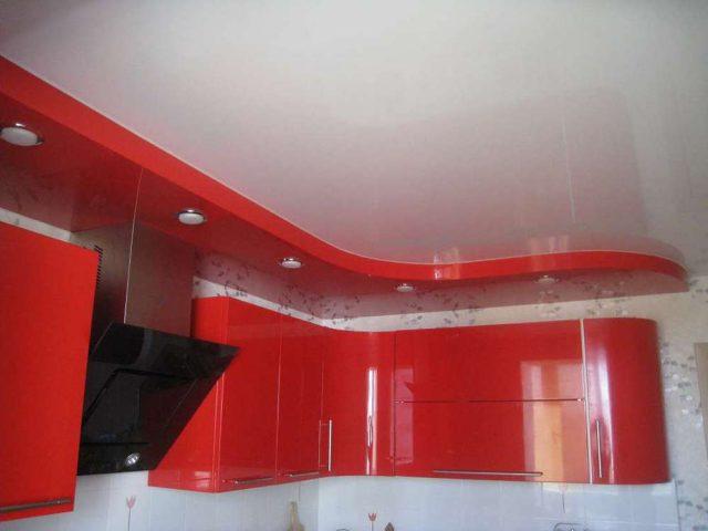 Романовка, Двухуровневый натяжной потолок, под ключ 9850 рублей