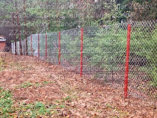 Никольское, СНТ Подберезовик, Забор из сетки рабицы, 70 метров, бутование столбов, цена с установкой 24500 рублей.
